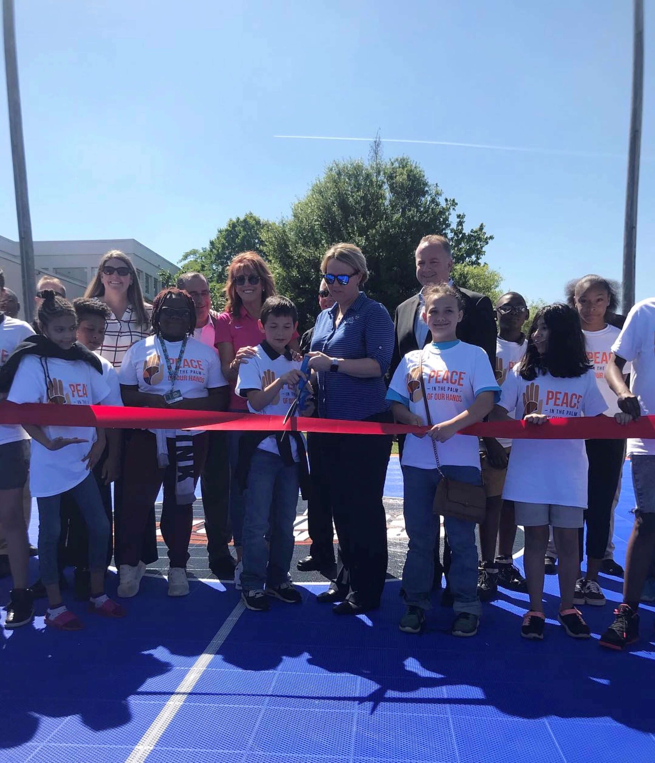 Dream Court Dedication at Dowdell Middle