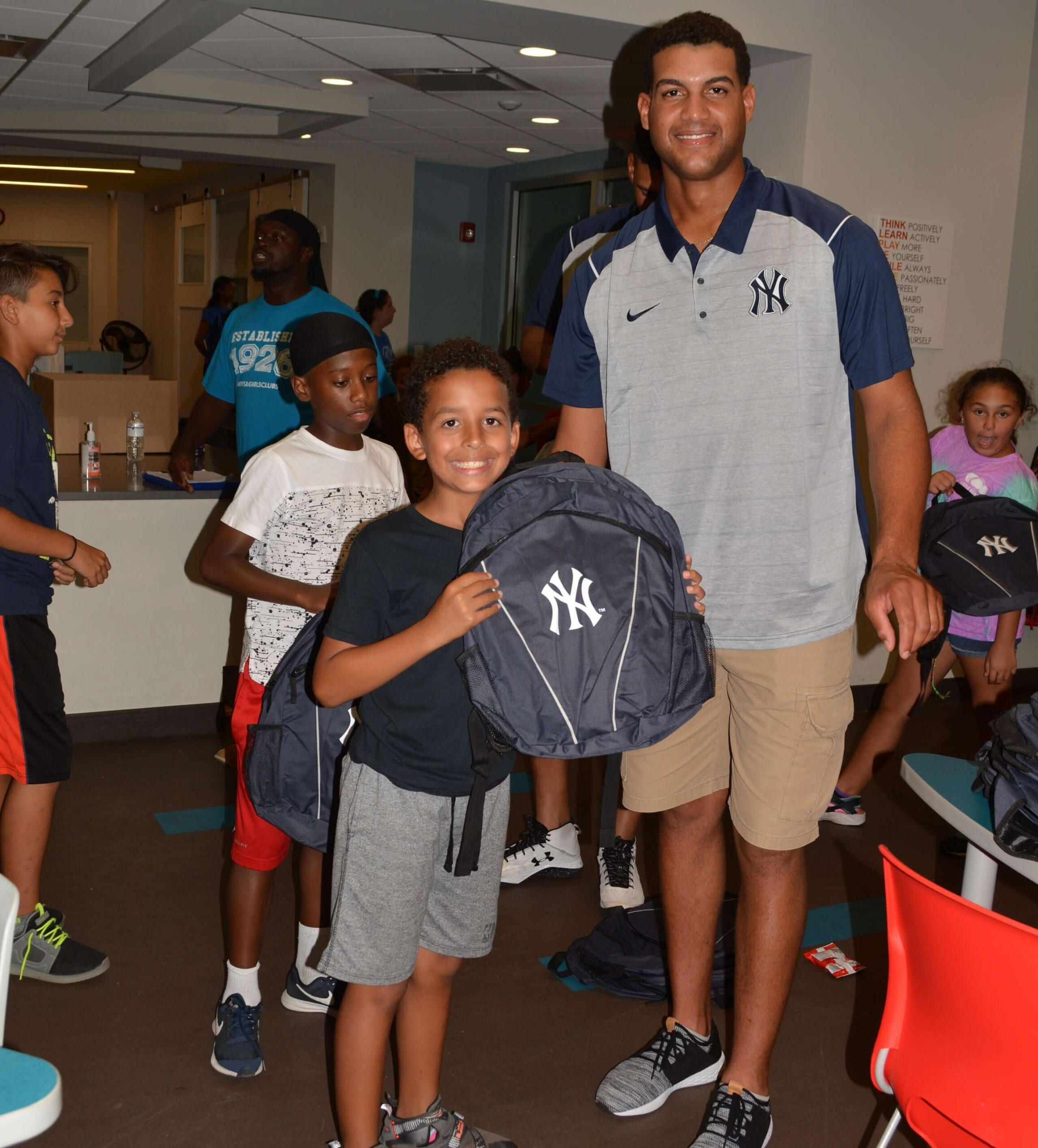 Backpack Distribution with the Yankees